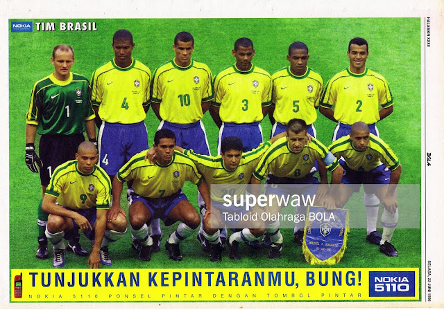 BRASIL NATIONAL TEAM SQUAD WORLD CUP 1998