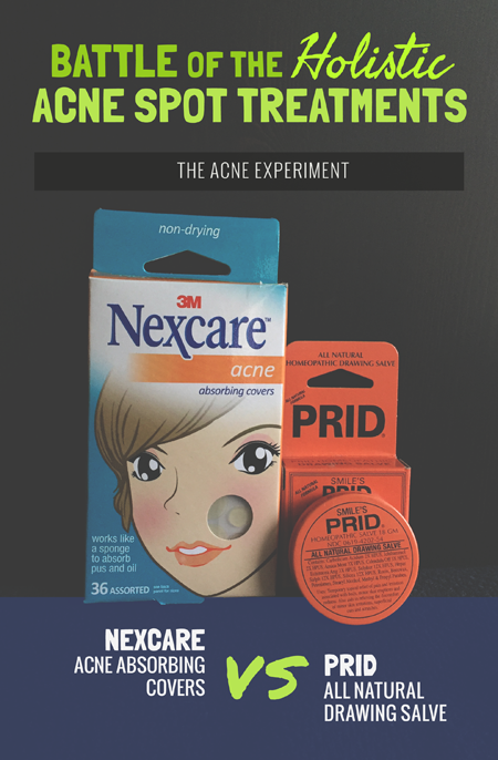 Nexcare Acne Patches vs Prid Drawing Salve Review :: The Acne Experiment