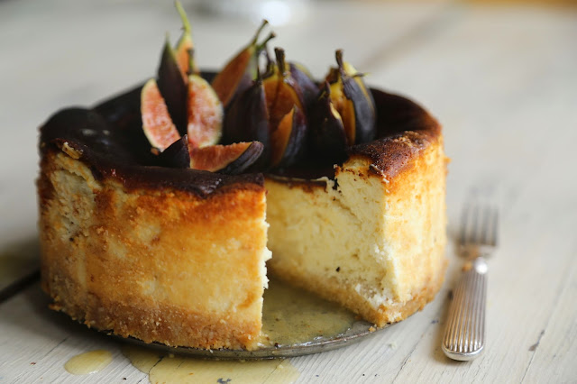Fig and Orange goat's cheese cake