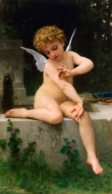 Адольф Вильям Бугро - Амур с бабочкой (1888)
