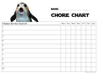 Porg Chore Chart - Free Printable - Star Wars Porgs - The Last Jedi