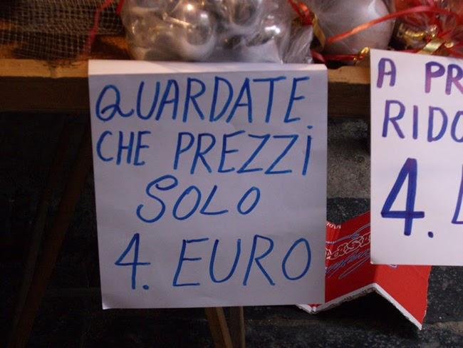 Errori di ortografia divertenti al mercato e alla toilette