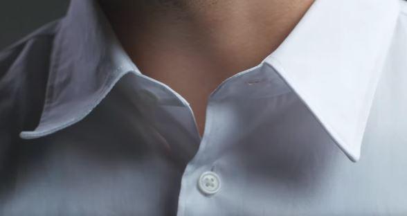 Guna 'collar stays' untuk kolar yang lebih segak