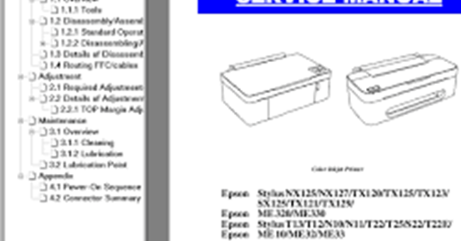 Cara Reset Printer Epson T13 Secara Manual