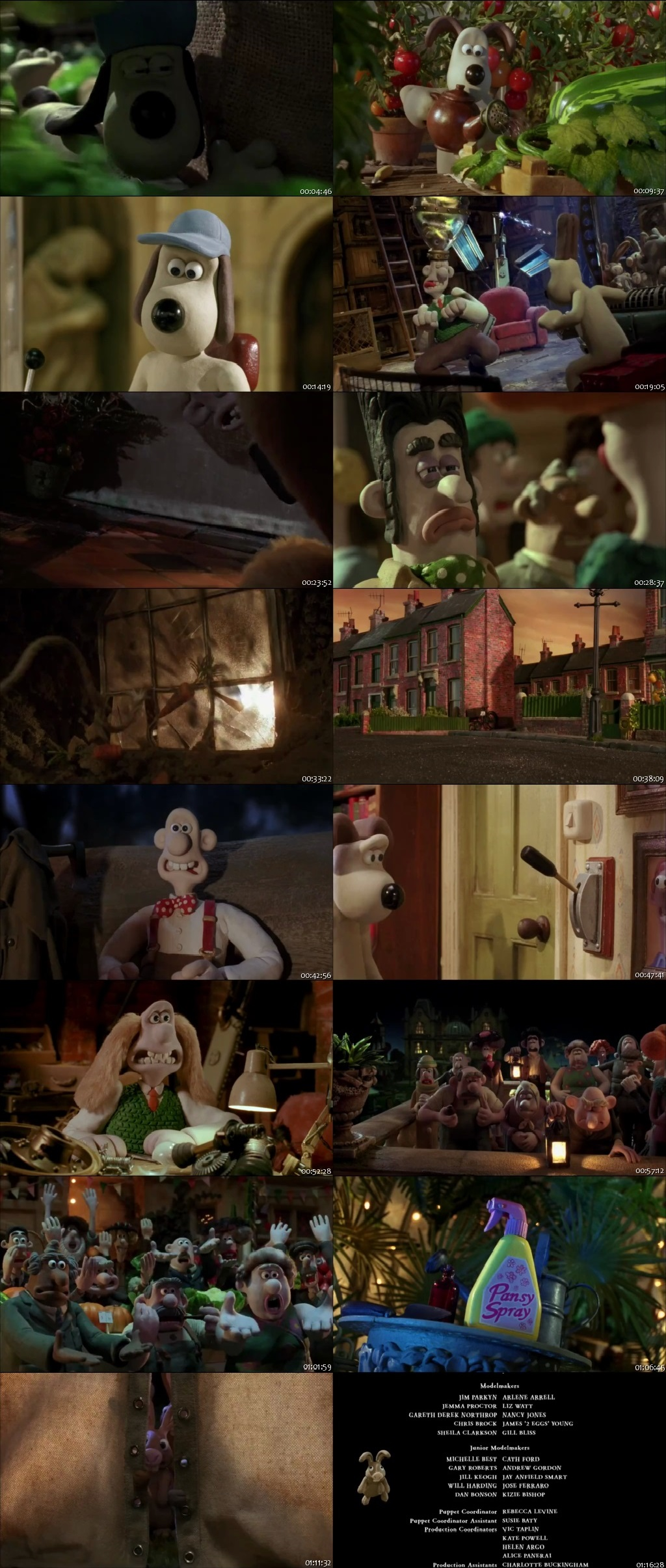 Screen Shot Of Wallace & Gromit: The Curse of the Were-Rabbit 2005 In Hindi English Dual Audio Bluray