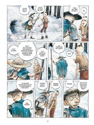 Aldobrando - extrait de la BD - Aldobrando part à l'aventure et fait des rencontres