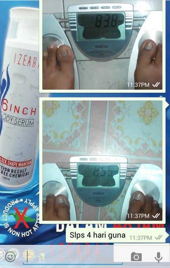 testimoni izeara 6 inch body serum