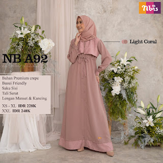 Katalog Gamis Nibras Terbaru NB A92, NB A93, NB A99