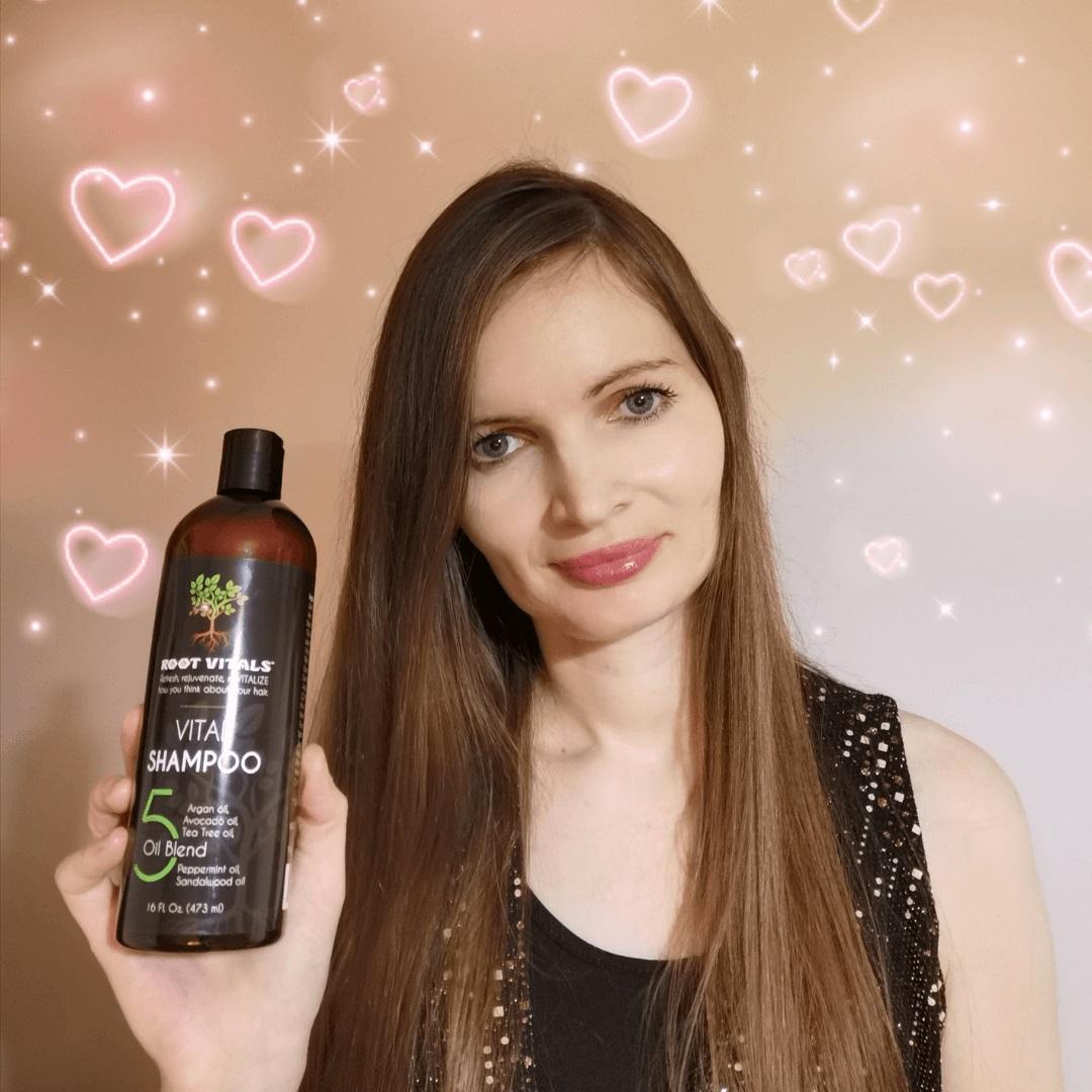 Root Vitals - Naturalny szampon stymulujący wzrost włosów & film z efektem działania