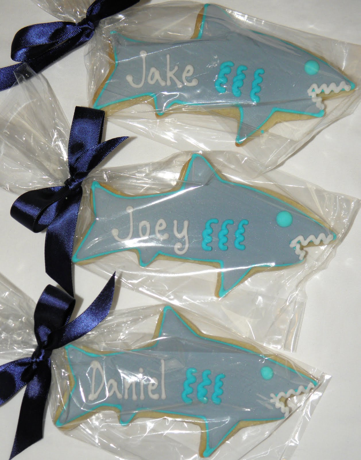 Cookie Dreams Cookie Co Personalized Shark Cookie Favors