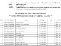 "Jadwal Ujian Per Sesi - CPNS 2019 ""Instansi Pemprov Sumbar"" - Kampus UPI YPTK Padang"
