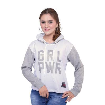 Sweater Hoodie Wanita Catenzo PL 460