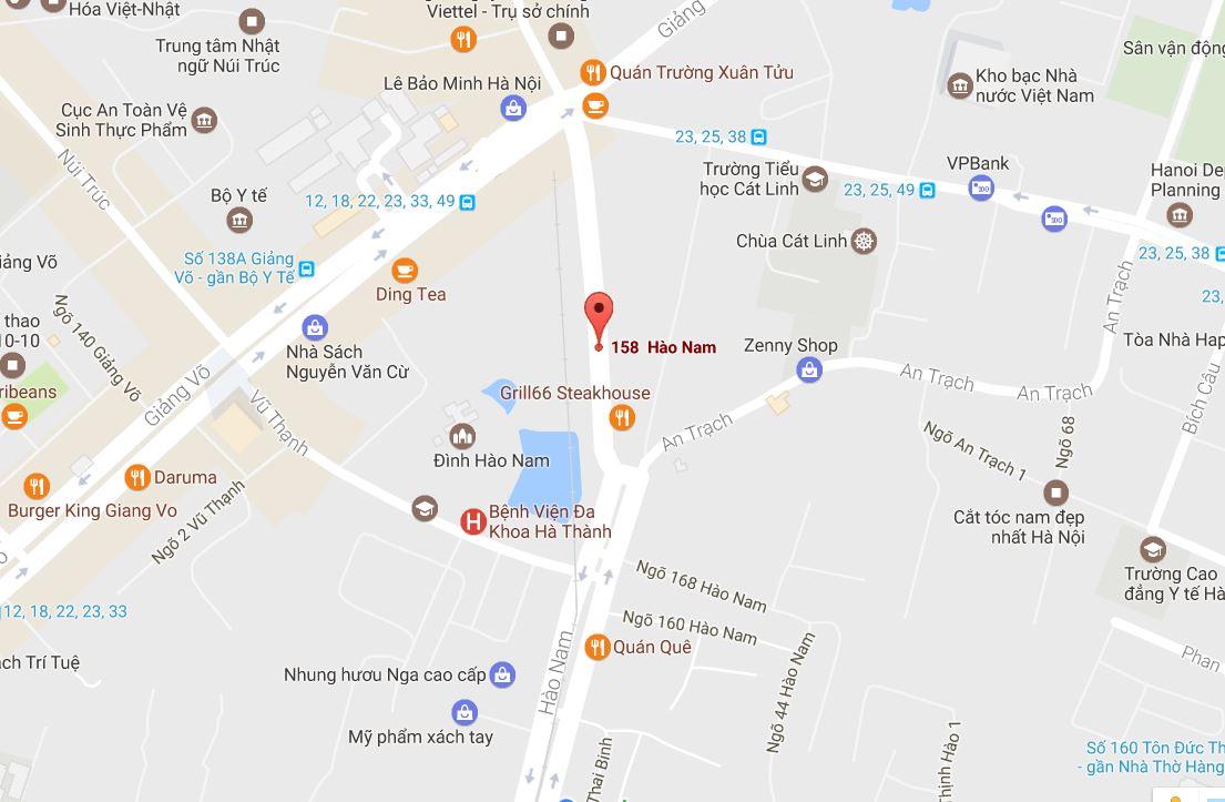 Bản đồ đến địa chỉ cho thuê máy ảnh tại Hà Nội
