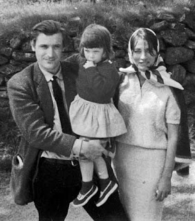 Ted Hughes with his daughter and partner Assia Wevill