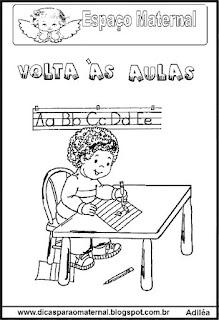 Desenho criança volta às aulas