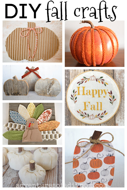 collage of diy fall crafts