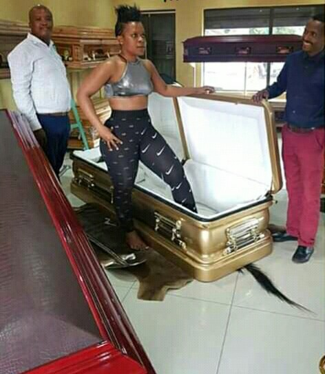 """""""After all we will Die one day"""" - Lady buys herself a Brand New Coffin"""