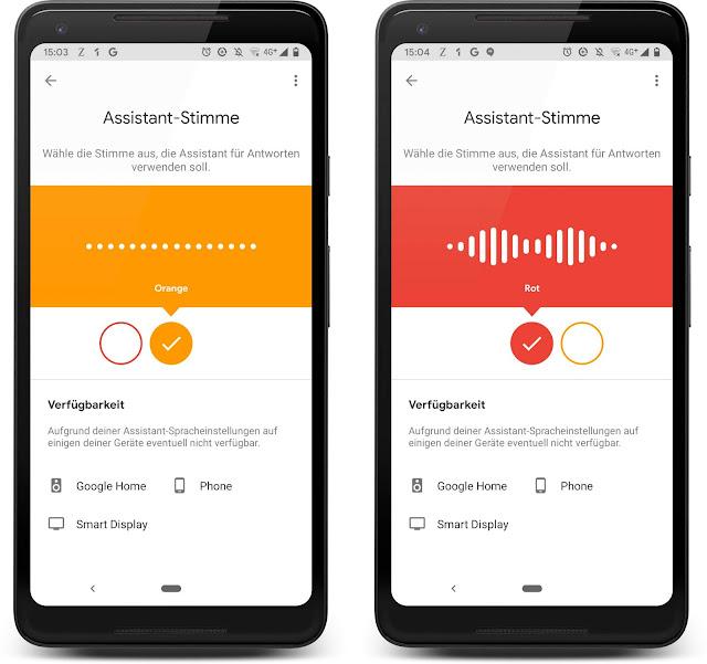 Ein Screenshot zeigt die Einstellungen, wo die Stimmen ausgewählt werden könne