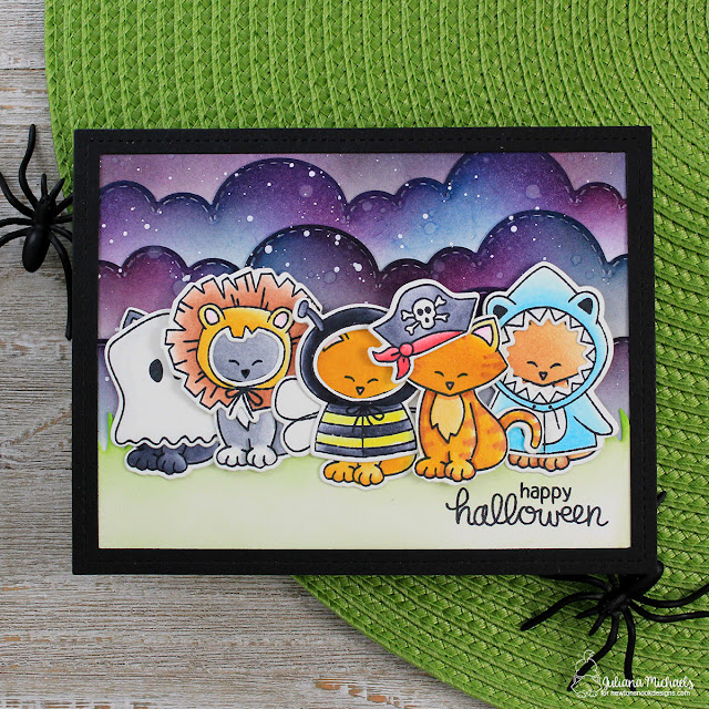 Happy Halloween Card by Juliana Michaels featuring Newton's Costume Party Stamp Set by Newton's Nook Designs