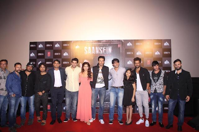 L-R director Rajiv Ruia, music director Vivek Kar, producer Goutam Jain, Vishal Malhotra, Sonarika Bhadoria, Rajniesh Duggall, Hiten Tejwani, Sachi Ruia, Amir Dalv