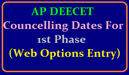AP DEECET Councelling Dates 2019 For 1st Phase (Web Options Entry) @ apdeecet.apcfss.in /2019/06/ap-deecet-councelling-dates-2019-for-first-phase-web-options-entry-apdeecet.apcfss.in.html