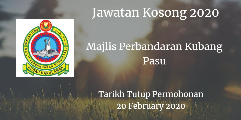Jawatan Kosong MPKP 20 February 2020