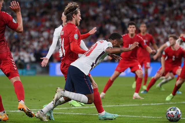 Shame on ridiculous penalty : Wild controversy blasts due to England Won Euro 2020 Semifinal  Over the Danes with a dive by Sterling !