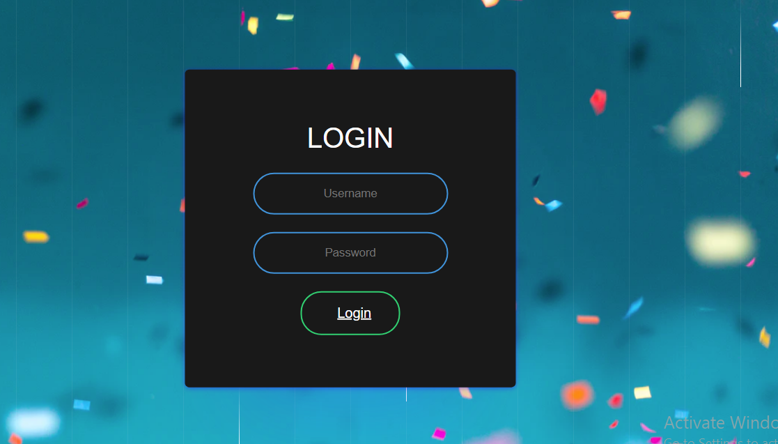 how to create this animated login form