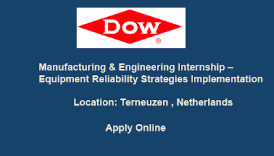 Manufacturing & Engineering Internship – Equipment Reliability Strategies Implementation | TERNEUZEN, THE NETHERLANDS.
