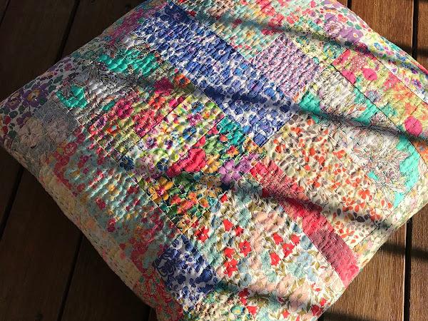 Improv Liberty Kantha-Style Pillow