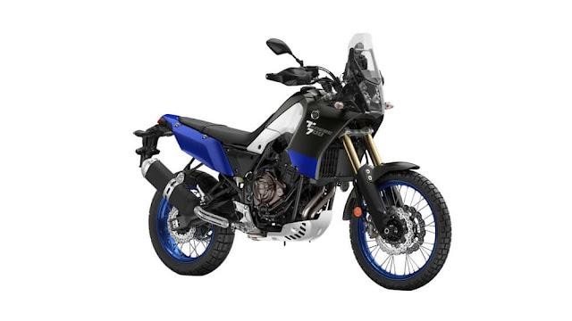 Yamaha Tenere 700 con rines 21 y 18 en sus ruedas