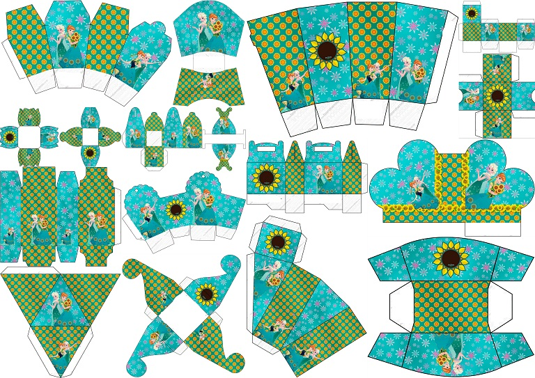 Frozen Fever Party Free Printable Boxes Oh My Fiesta In