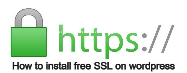 How to install free SSL on wordpress website