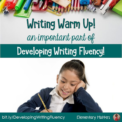 Writing Warm Up: When my students were struggling with writing fluency, I came up with this freebie. The goal is to get their thoughts flowing through their fingers onto the paper!
