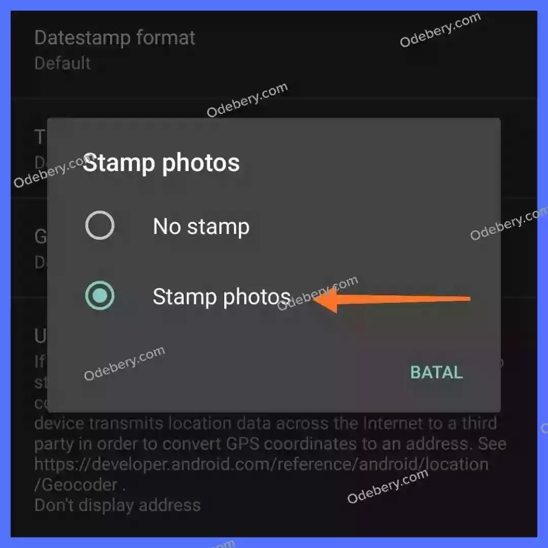 Cara menampilkan lokasi koordinat di foto