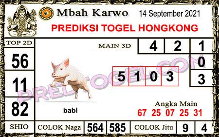 Prediksi Mbah Karwo Hk Selasa 14 September 2021