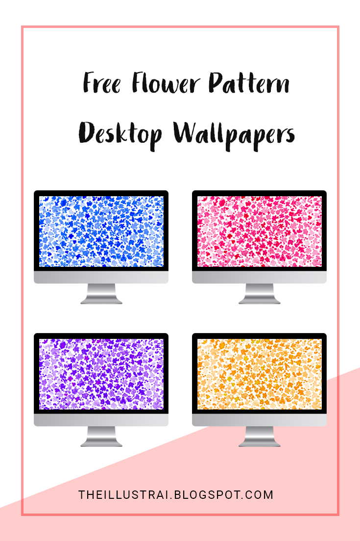 Download these free flower pattern desktop wallpapers in four different colors. Switch them up to fit with your style and mood!