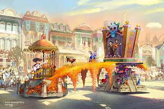 coco Float Magic Happens Disneyland Parade Concept Art