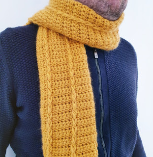 como tejer una bufanda a crochet, tutorial paso a paso