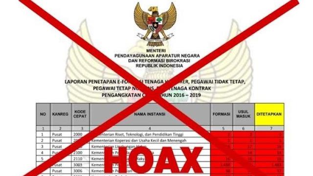 Jangan Terkecoh Hoax Penetapan Formasi Honorer