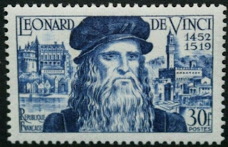France 1952 Leonardo da Vinci 5th Birth Centenary
