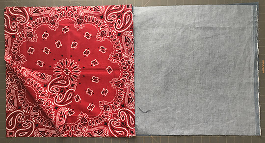 DIY drawstring bandana backpack
