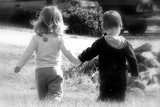 boy and girl holding hands love Friendship