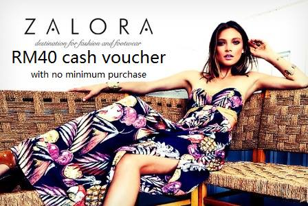 Zalora cash voucher