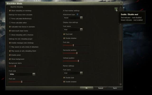 World of tanks reload timer