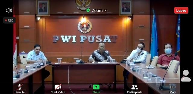 Jelang HPN 2021, PWI Pusat/Panpel Audiensi Virtual ke Ketua MPR RI dan Menkop-UKM