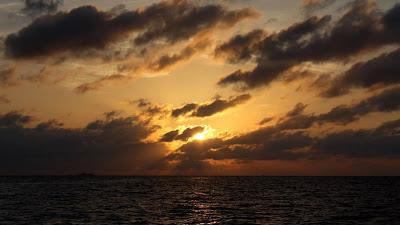 Sunset Sea Background image