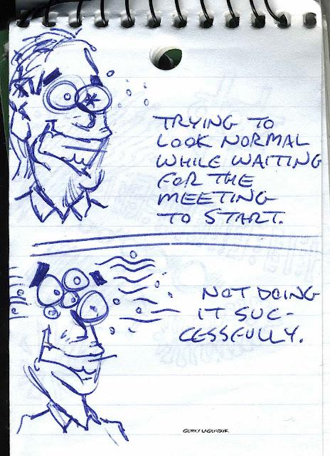 Gerry Lagendyk sketchbook notepad cartoon