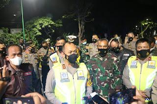 Danrem 042/Gapu Bersama Kapolda dan Walikota Jambi Gelar Patroli Bermotor Malam Natal di Kota Jambi
