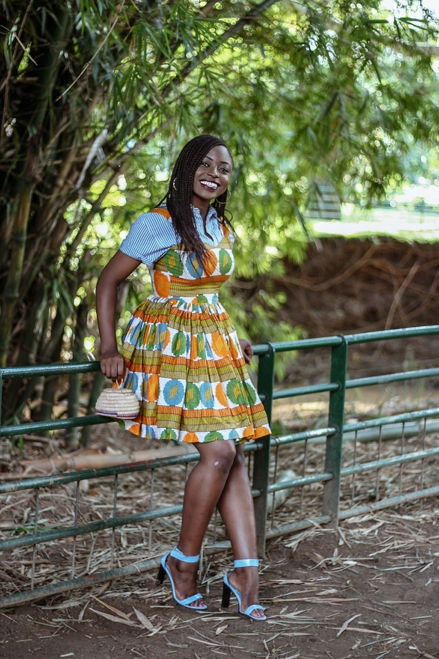 Mixing stripes and African prints